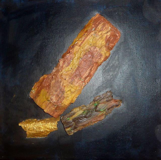 Borken braun/gold 30x30 cm