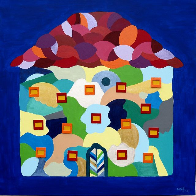 Colourhouse, 100x100 cm