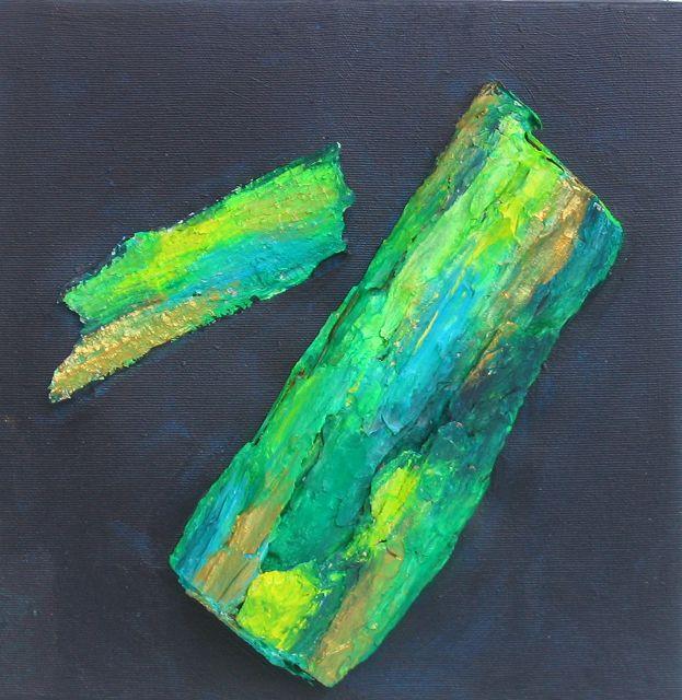 Borkengrün, 30x30 cm
