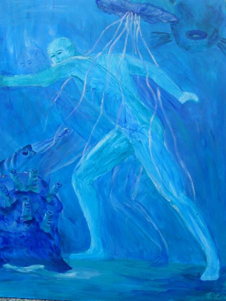 Wassermensch, 50 x 66 cm