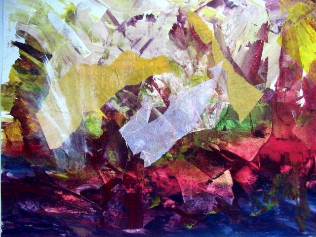 Rotstrand, 46 x 66 cm Papier