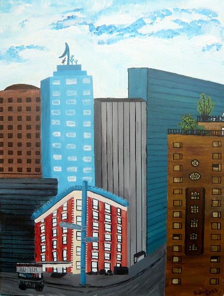 New York, 60 x 80 cm