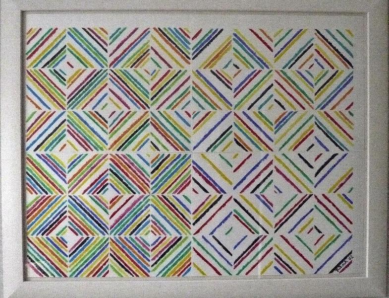 Asymmetrie, 90 x 120 cm Papier