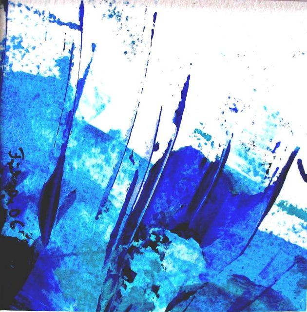 Variation in blau, 10x10 cm