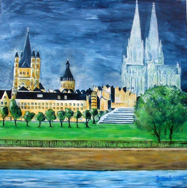 Kölnansicht 1, 80x80 cm