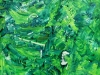 Imagination in grün, 100x100 cm