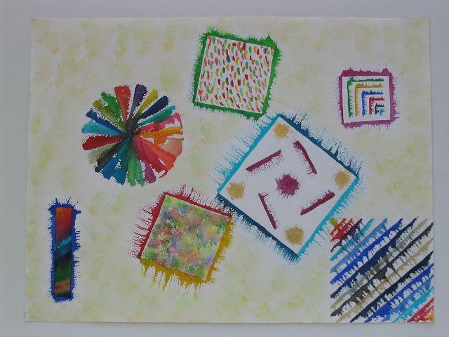 geometrische Variationen, 30x40 cm