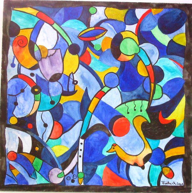 Kraft der Farbe, 30x30 cm