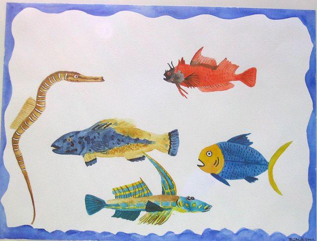 Fische, 21x30 cm