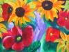 Blumenfrau, 60x80 cm