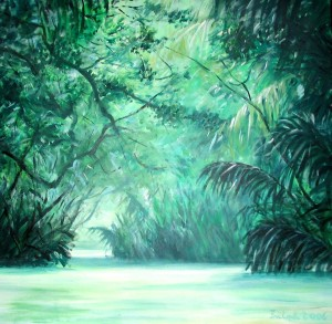 Dschungel JKauai, Hawaii, 80 x 80 cm