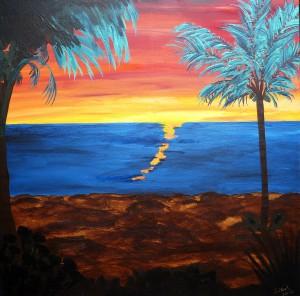 Sonenuntergang auf Hawaii