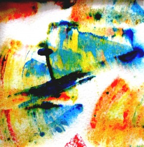 Farbvariation mit Acryl auf Papier, 10 x 10 cm