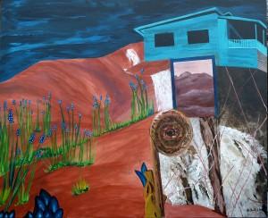 Traumurlaub Acryl 100 x 120 cm