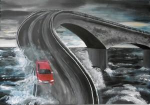 Motivcollagen Acryl auf Leinwand 70 x 100 cm