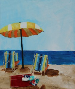 Urlaubsruhe 50 x 60 cm Acryl auf Leinwand