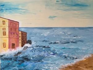 Aqua alter, Acrylbild, 100 x 80 cm